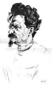 Retrat de Trotski, de Iurii Annenkov